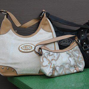 3 XOXO purses